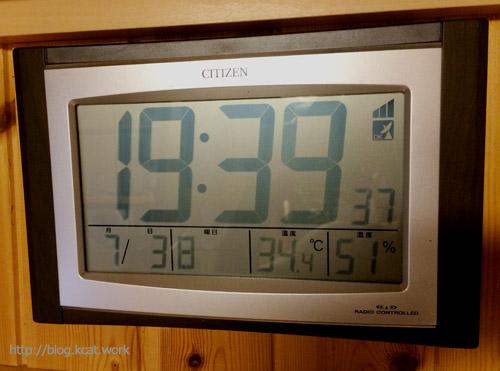 室温34.4度