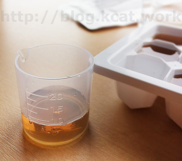 タンポポ茶 ショウキT-1 1キューブ分の量