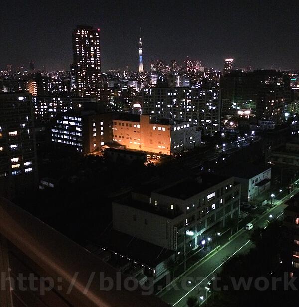 タワーマンションからの夜景2017/11/1