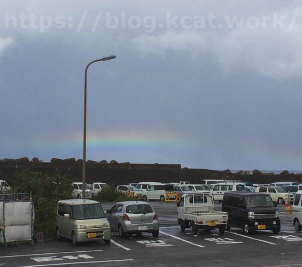 伊豆大島の虹