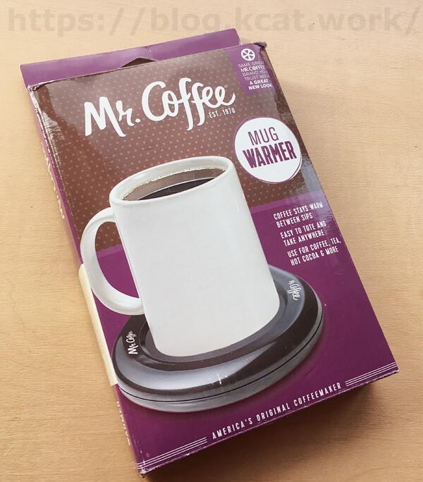 マグカップウォーマー「Mr.Coffee」の箱