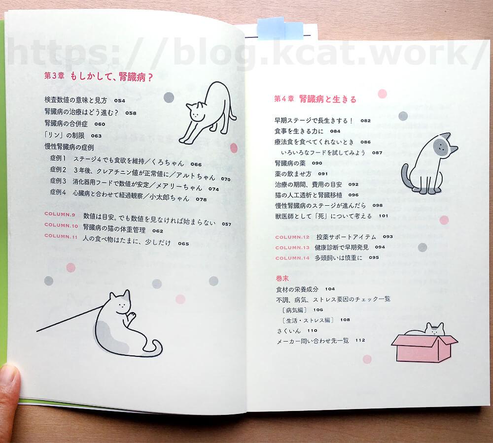 「猫の腎臓病がわかる本」もくじ2