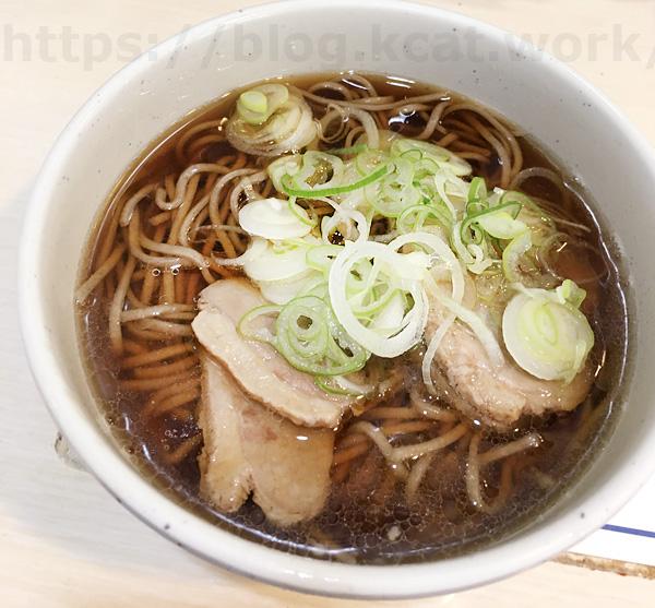 茅野駅の鴨そば(生麺タイプ)